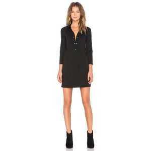 Theory Erimenthia Dress Black Patch Pockets Large